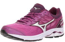Mizuno Wave Rider 21 Size 7 M (B) EU 37 Women's Running Shoes Pink 410974.6100