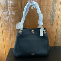 COACH Women's Turnlock Edie Leather Shoulder Bag - Black - $228.00