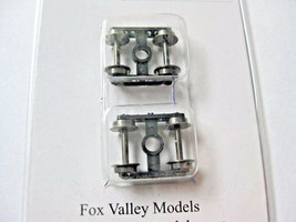 Fox Valley Models #49000 Milw Straight Caboose Truck 1 pair  N-Scale image 1
