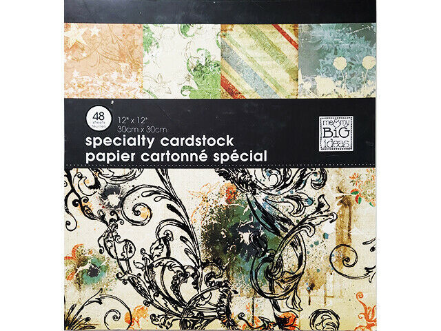 MAMBI Specialty Cardstock Costal Venice 12x12 Inches, 48 Sheets, Single-Sided