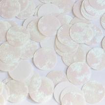 Round Sequin 20mm Center Hole White Iris Rainbow Emboss Swirl Texture Pa... - $14.97