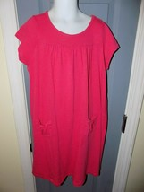 Crewcuts Bright Pink Short Sleeve Knit Dress Size 8 Girl's EUC - $20.28