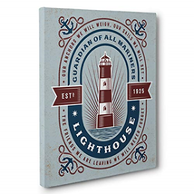 Guardian Of Mariners Lighthouse CANVAS Wall Art Home Décor - $42.51