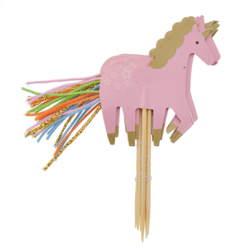 24pcs/set Unicorn Rainbow Cake Decorating Topper Supplies