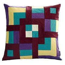 Black Temptation [Country Road] Handmade Canvas Decorative Pillow Unique Grid Cu - $38.50