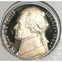 1982-S DCAM Proof Jefferson Nickel #0439 - $1.99