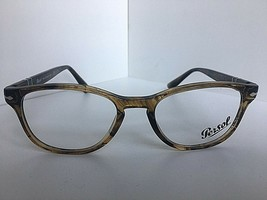 New Persol 3085-V 1021 Havana 53mm Oval Rx Eyeglasses Frame Hand Made in Italy  - $119.99