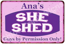 Ana's Purple & Pink SHE SHED Vintage Sign 8x12 Woman Wall Décor A81200006 - $16.95+