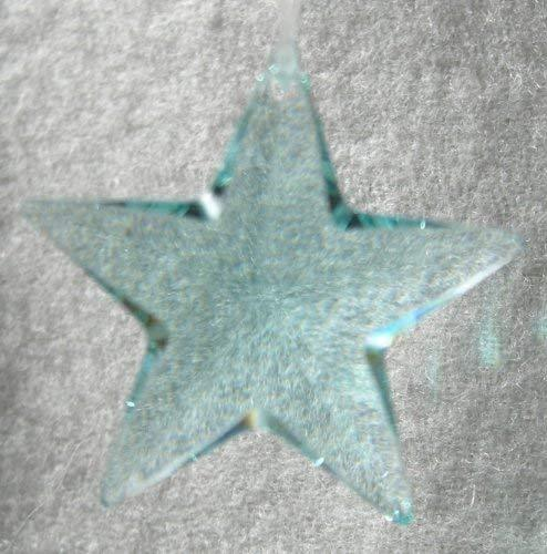 Swarovski 28mm Antique Green Crystal Star Prism