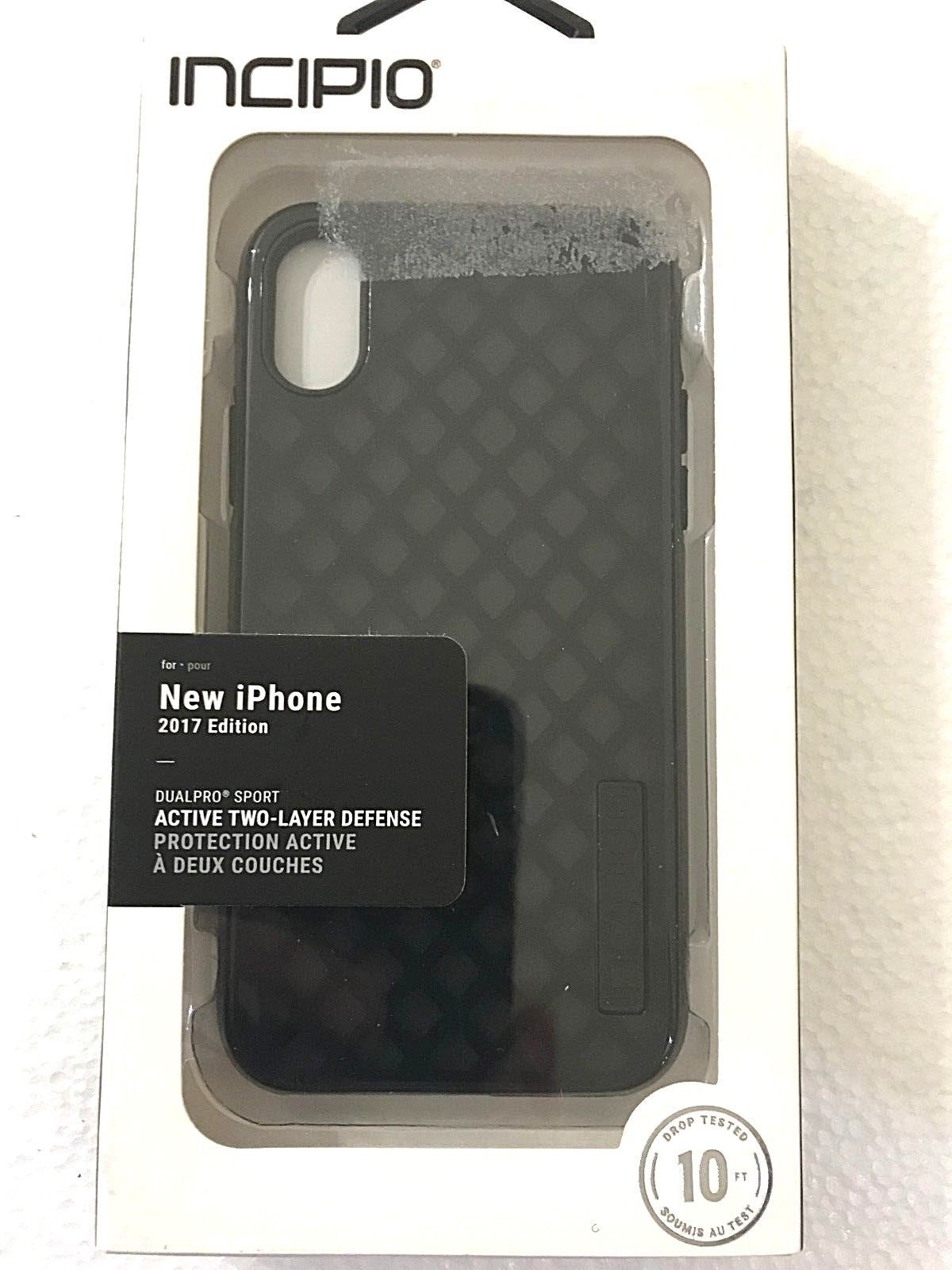 incipio DUALPRO Sport Two Layer Case for iPhone X, XS Black