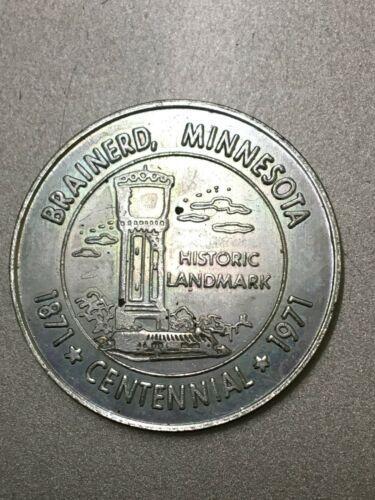 Brainerd MN 1971 centennial token capital of Paul Bunyan Vacationland image 2