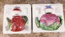 2 Avon Seasons Treasure Rose 4th Peony 5th In Series Miniature 1995 Porc... - $14.53