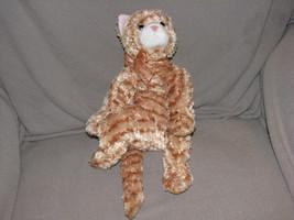 2002 TYSILK CLASSIC TY ORANGE STRIPE TABBY CAT STUFFED PLUSH BEAN BAG TO... - $42.56