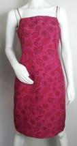 INC International Concepts Sheath Dress Paisley Pink Back Zip 100 Silk S... - $14.01