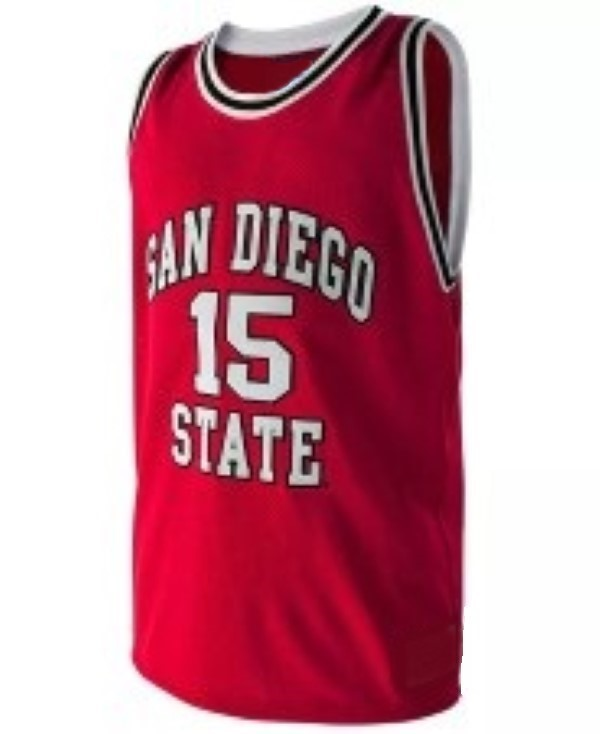 Kawhi leonard college basketball jersey red   1