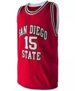 Kawhi Leonard #15 College Basketball Custom Jersey Sewn Red Any Size - $29.99+