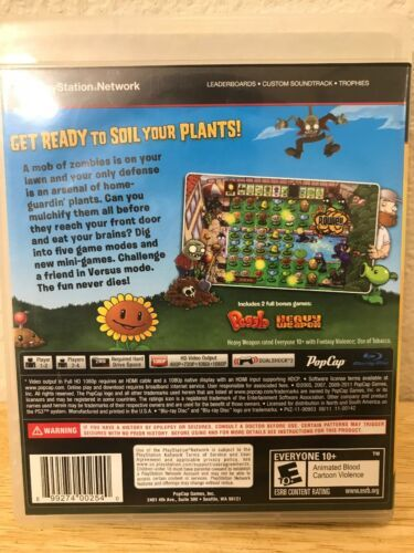 Plants vs. Zombies (Sony PlayStation 3, 2011) image 2