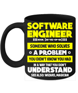 Software Engineer Definition Mugs Coder Definition Mugs - $15.95