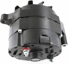 Ford 1G Style 110 Amp for Alternator for Hot Rod and Muscle Car AMC All Black image 3