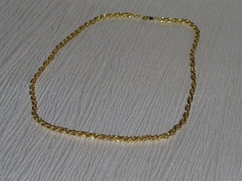 Vintage Simply But Classy Goldtone Twist Chain Necklace – 17 inches in l... - $8.59