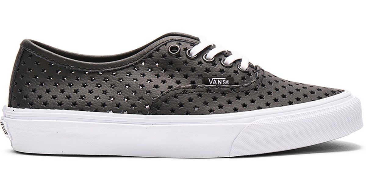 a7f3ff8361 Vans Authentic Slim Perf Stars Black Skate and 50 similar items