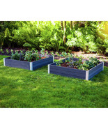 NEW New England Arbors Urbana Raised Garden Bed, 2-pack **FREE SHIPPING** - $199.99