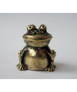 Thimble funny frog - bronze thimble, frog thimble, metal thimble, metal ... - $6.50