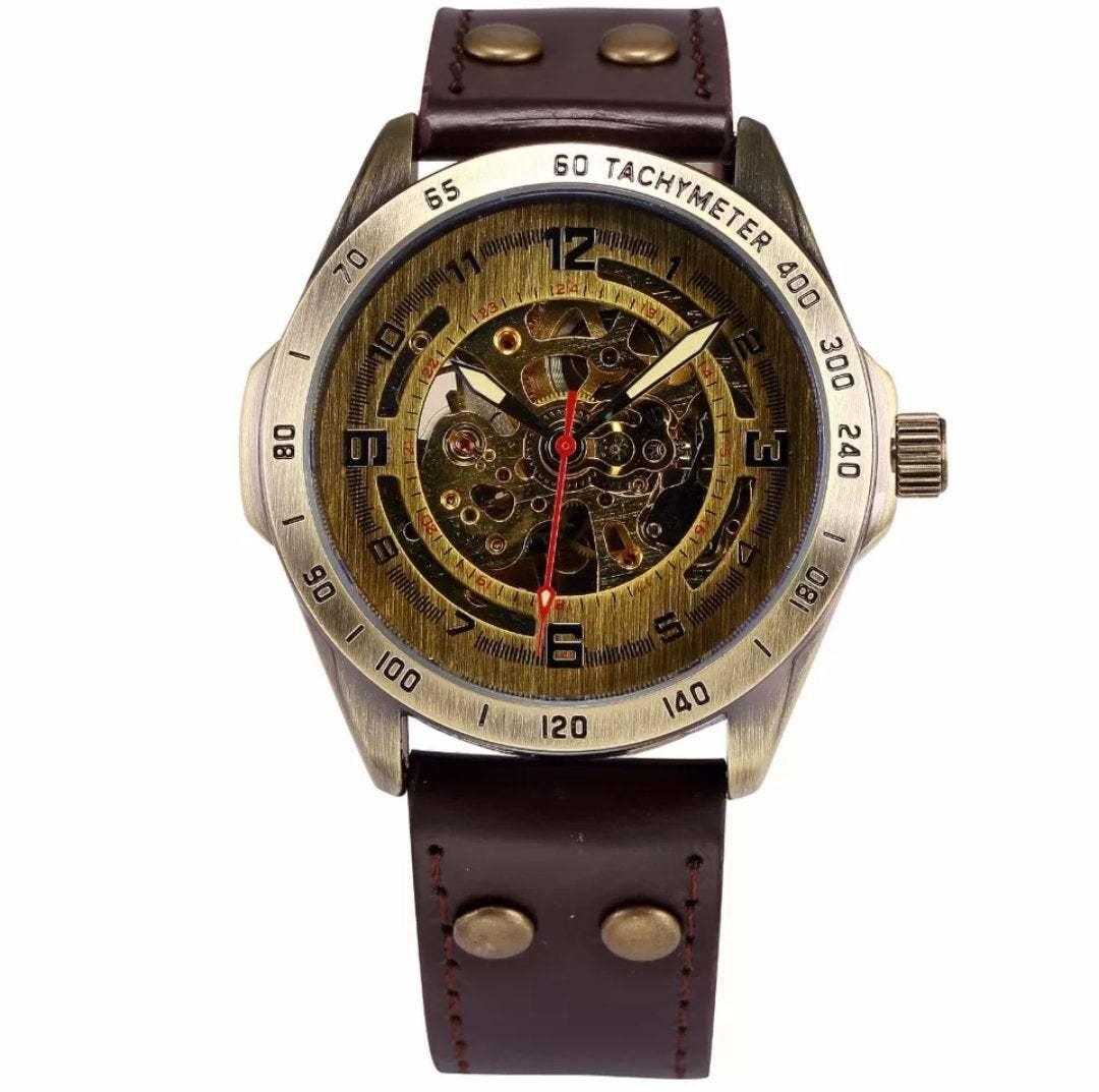 Luxury Vintage Retro Automatic Mechanical Watch- Automatics Self-Wind- Antique w