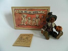 "NIB Boyds Bears The Shoe Box Bears Style #3209 Miles ""Gooble"" Grizberg Resin - $29.99"