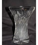 "Crystal Semi Swirl Cut Wide Mouth Vase 5 1/2"" - $24.74"