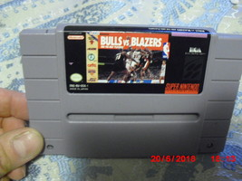 Bulls vs. Blazers and the NBA Playoffs (Super Nintendo, 1992)  GAME ONLY - $4.94