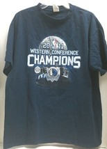 Mavericks 2011 Western Conference Champions T-Shirt Navy xl tall graphics on bk - $13.98