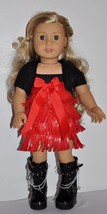 AMERICAN MADE DOLL CLOTHES FOR 18 INCH GIRL DOLLS DRESS  LOT- RED FRINGE... - $18.00