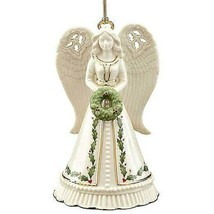 Lenox Holiday Angel Bell Christmas Ornament Figurine Wreath 14K Gold Tri... - $34.99