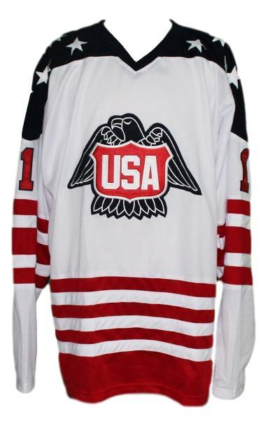 Pete lopresti  1 team usa canada cup hockey jersey white  1