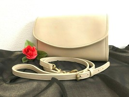 Rare Vintage COACH Sterling Clutch 9945, Shoulder Bag Bone (Cream) Leath... - £113.03 GBP