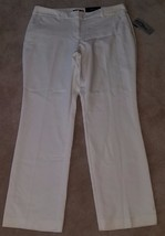 NEW w/ FLAW Apt 9 White Pants Size 16 Straight Mid Rise AS IS SEE PHOTOS - $15.43