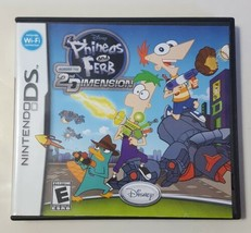 PHINEAS AND FERB 2ND DIMENSION - Nintendo DS Video Game CIB COMPLETE - $5.89