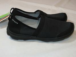 Femmes Crocs Busyday 2.0 Extensible Toile Aline Chaussures W 6 W6 Standa... - $37.32