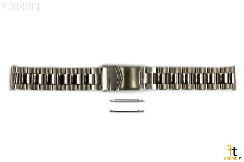 Primary image for Solid Stainless Steel Watch Band 20mm FITS Any Straigth End  w/ 2Pins