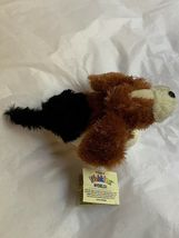 Ganz Webkinz Shaggy Brown White Basset Hound Puppy Dog Stuffed Plush Animal 9in image 3