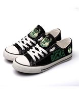 Hot! 2019 Milwaukee Bucks National Basketball Team Canvas Shoes for women - $72.99