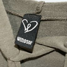Windsor Olive Green Cropped Drawstring Pullover Hooded Top Hoodie Size S image 3