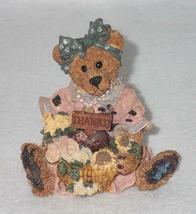 Boyd Bearstone Resin Bears Justina The Message Bearer Figurine #2273 27E NEW image 3