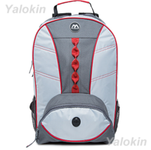 NEW Light Grey With Red Webbing Fashion Unisex Backpack Shoulder Book Bag - $23.99