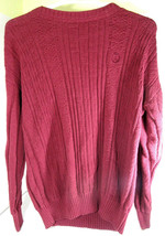 Vintage Ralph Lauren Chaps Knit 3-Sailors Class A Crewneck Knit Sweater Red L - $24.70