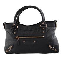 Balenciaga 285433 First Two Way Black & Rose Gold Bag - $1,441.69