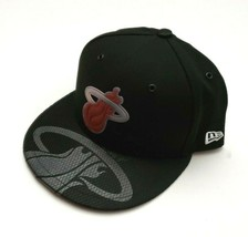 New Era Miami Heat 59Fifty 2018 On Court Collection Fitted Hat Black Siz... - $37.00
