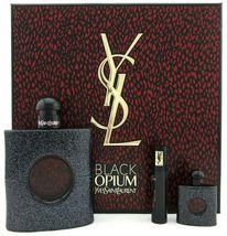 Yves Saint Laurent Black Opium Perfume 3.0 Oz Eau De Parfum Spray 3 Pcs Gift Set image 1