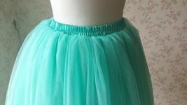 Aqua Knee Tulle Skirt Adult Womens Tutus Plus Size Tutu Skirts Cheap Tulle Skirt image 3